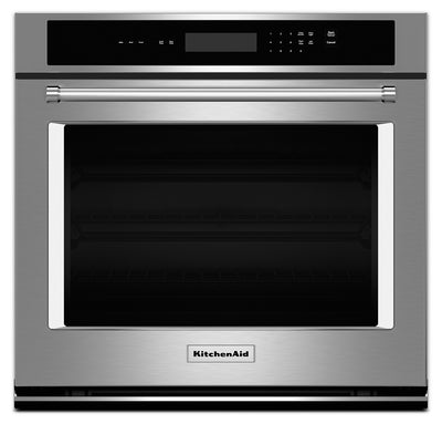 "KitchenAid 27"" Single Wall Oven with Even-Heat™ Thermal Bake and Broil – Stainless Steel