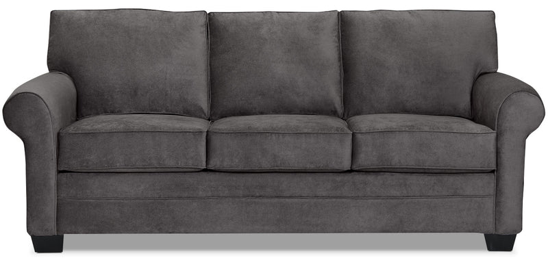 Designed2B Dov Chenille Sofa – Lavish Charcoal|Sofa Dov de la collection Design à mon image en chenille – anthracite somptueux