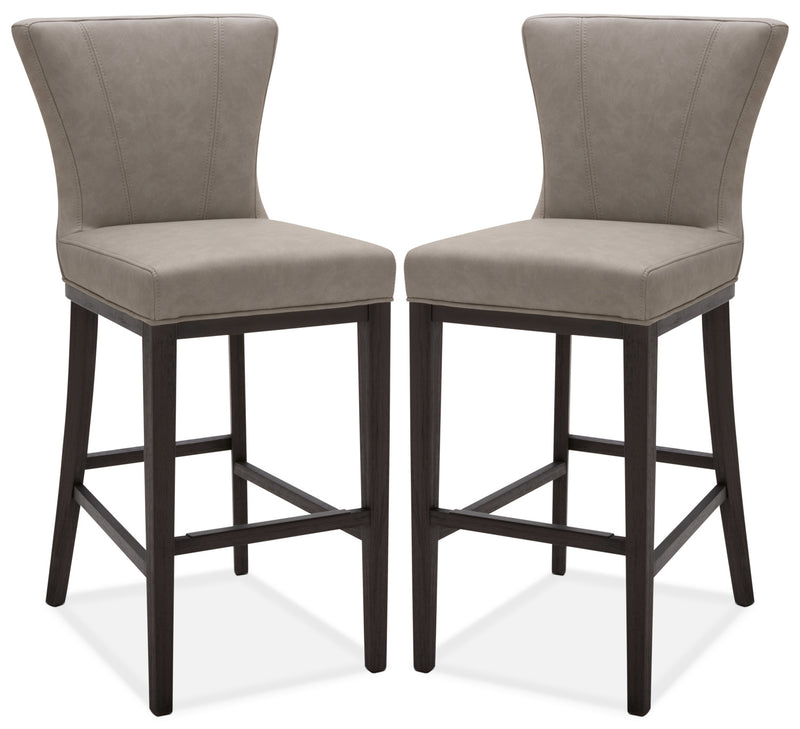 Quinn Bar Stool, Set of 2 – Taupe|Tabouret bar Quinn, ensemble de 2 - taupe|QUINTBSP
