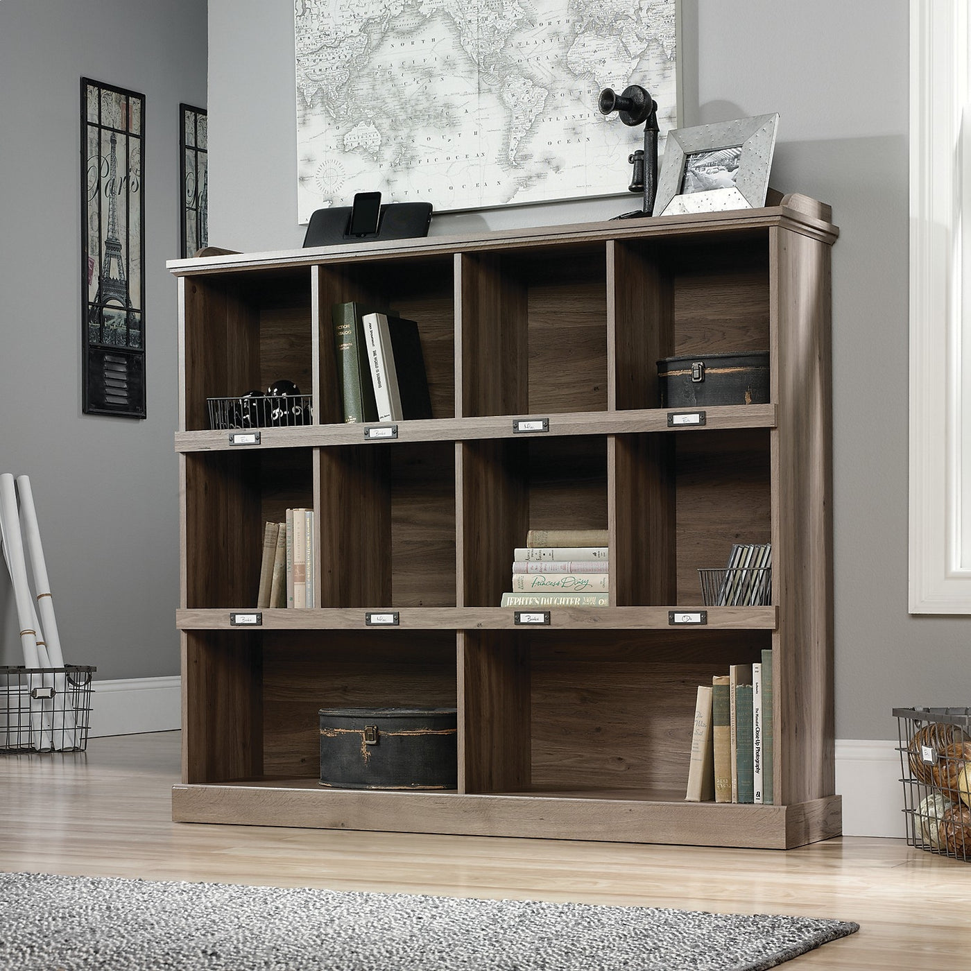 Barrister Lane Wide Bookcase Salt Oak
