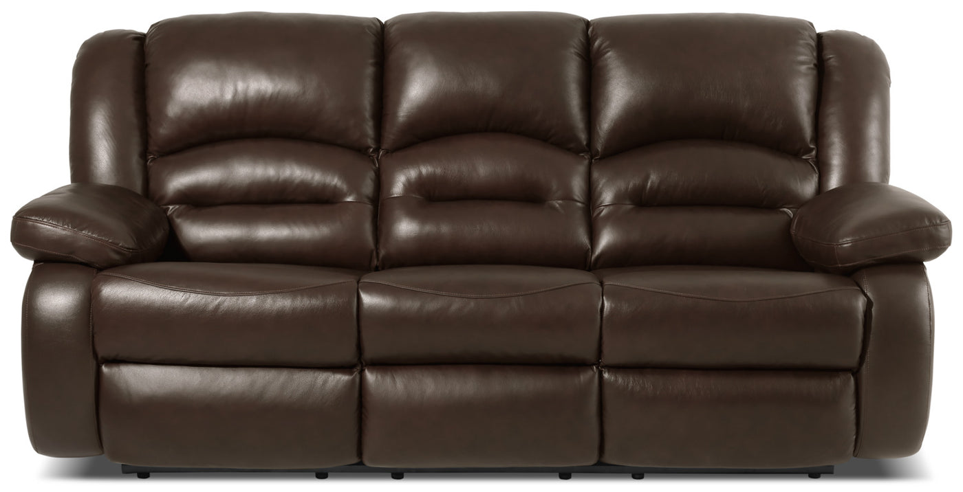 Astonishing Toreno Genuine Leather Reclining Sofa Brown Machost Co Dining Chair Design Ideas Machostcouk