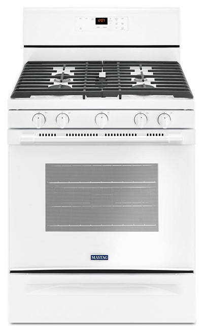 Maytag 5.0 Cu. Ft. Freestanding Gas Range with Oval Burner – MGR6600FW - Gas Range in White