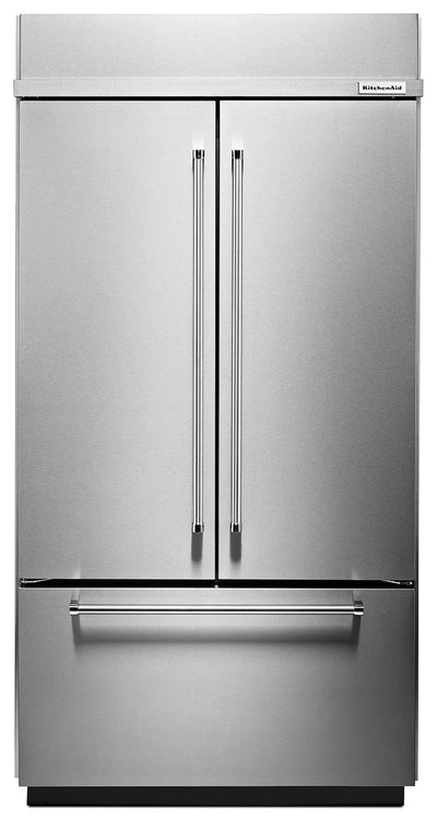 KitchenAid 24.2 Cu. Ft. Built-In French-Door Refrigerator – KBFN502ESS - Refrigerator with Ice Maker in Stainless Steel