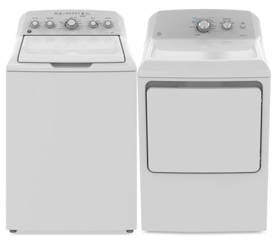 GE 4.9 Cu. Ft. Top-Load Washer and 7.4 Cu. Ft. Gas Dryer