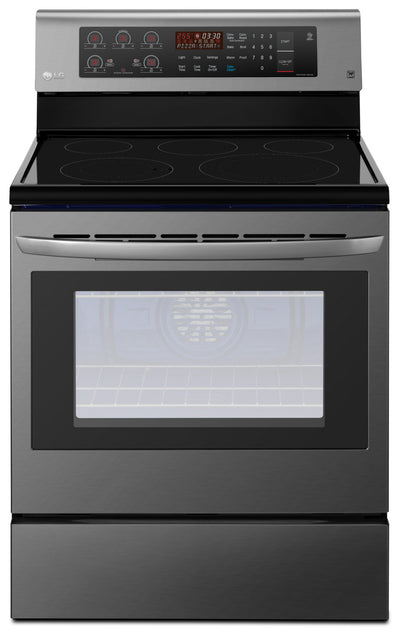 LG 6.3 Cu. Ft. Freestanding Convection Electric Range – LRE3193BD - Electric Range in Black Stainless Steel