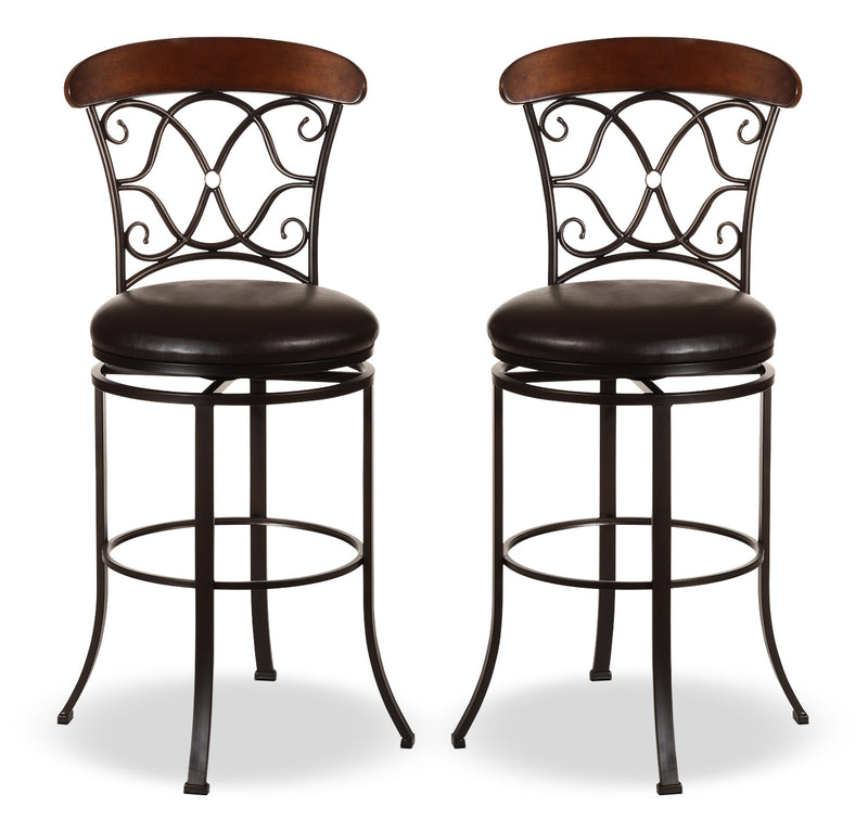 Dundee Counter-Height Swivel Stool – Set of 2|Tabouret pivotant Dundee de hauteur comptoir - ensemble de 2