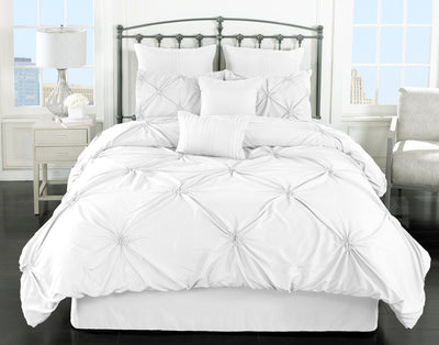 Lila 7-Piece King Comforter Set - White Comforter Set