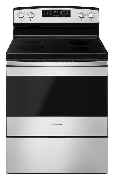 Amana 4.8 Cu. Ft. Freestanding Electric Range with Self-Clean – YAER6603SFS - Electric Range in Stainless Steel