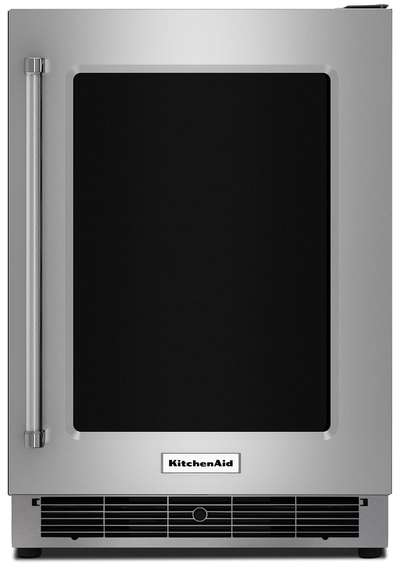 KitchenAid 5.1 Cu. Ft. Undercounter Refrigerator with Right-Door Swing – KURR304ESS - Refrigerator in Stainless Steel
