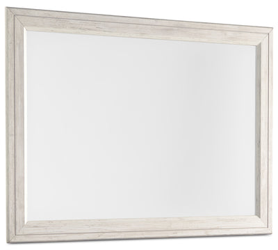 Willowton Mirror - Country style Mirror in White Engineered Wood and Laminate Veneers