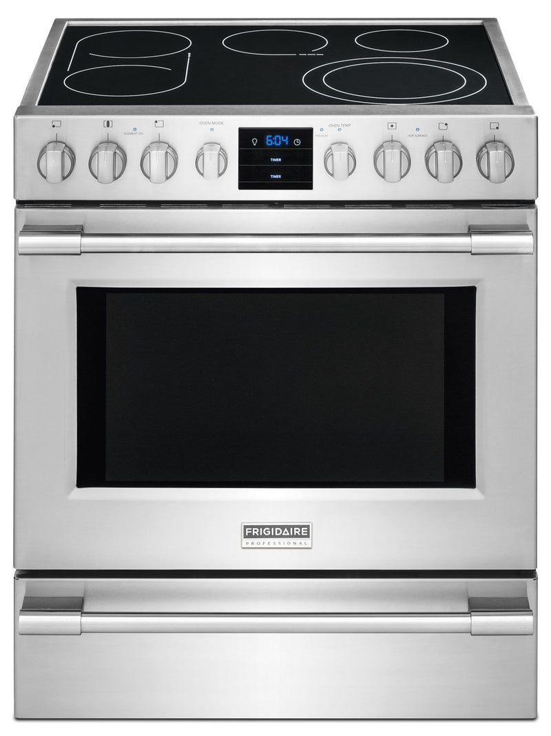 Frigidaire Professional 5.1 Cu. Ft. Slide-In Electric Range - Stainless Steel|Cuisinière électrique encastrée Frigidaire de 5,1 pi³ - acier inoxydable