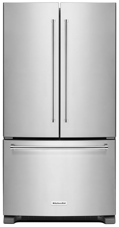 KitchenAid 25 Cu. Ft. French Door Refrigerator with Interior Dispenser - Stainless Steel - Refrigerator with Ice Maker in Stainless Steel