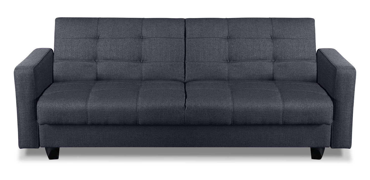 Cali Fabric Storage Futon Grey The Brick