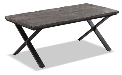 Astana Coffee Table - Industrial style Coffee Table in Grey Metal and Wood
