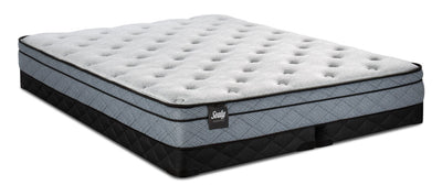 Sealy Essentials Lucente Eurotop Low-Profile Split Queen Mattress Set|Ensemble matelas à Euro-plateau divisé à profil bas Lucente Essentials de Sealy pour grand lit|LCENLSQP