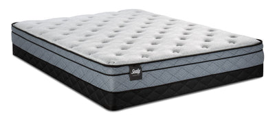 Sealy Essentials Lucente Eurotop Low-Profile Queen Mattress Set