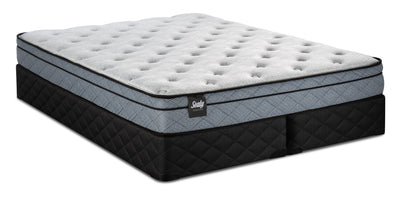 Sealy Essentials Lucente Eurotop Split Queen Mattress Set|Ensemble matelas à Euro-plateau divisé Lucente Essentials de Sealy pour grand lit|LCENTSQP