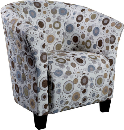 Sundial Accent Fabric Tub Chair - Modern style Accent Chair in Patterned