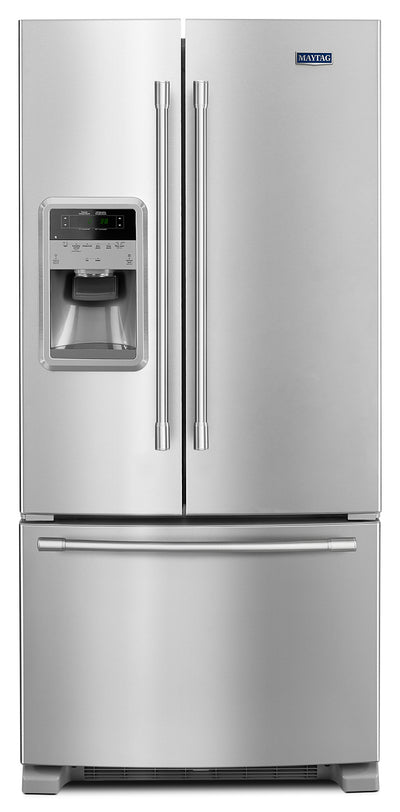 Maytag 22 Cu. Ft. French-Door Refrigerator – MFI2269FRZ - Refrigerator with Exterior Water/Ice Dispenser in Stainless Steel