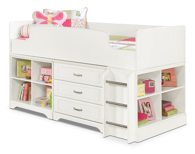 Lulu Twin Loft Bed - Country style Bed in White
