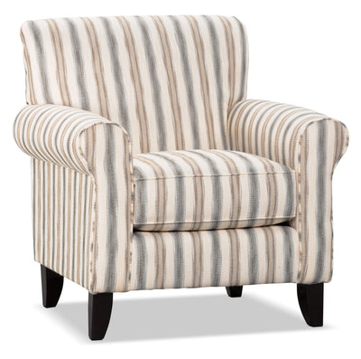 Wynn Linen-Look Fabric Accent Chair – Twilight - Traditional style Chair in Twilight