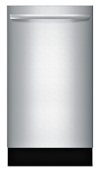 "Bosch 18"" 800 Series Bar-Handle Dishwasher - Stainless Steel - Dishwasher in Stainless Steel"