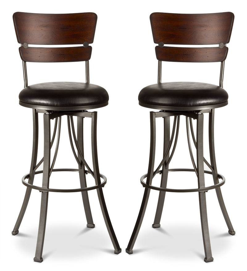 Santa Monica Counter-Height Swivel Stool – Set of 2|Tabouret pivotant Santa Monica de hauteur comptoir - ensemble de 2