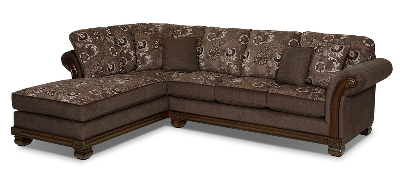 Hazel 2-Piece Chenille Left-Facing Sectional - Quartz|Sofa sectionnel de gauche Hazel 2 pièces en chenille - quartz|HAZELQS2