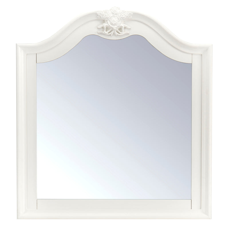 Livy Mirror - Traditional, Glam style Mirror in White Pine