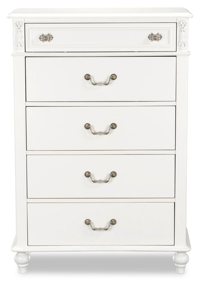 Livy Chest - Traditional, Glam style Chest in White Pine