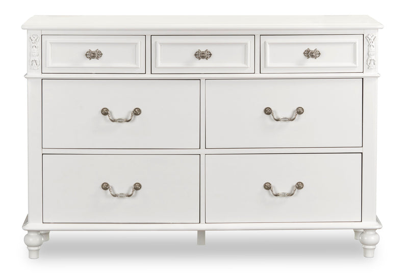 Livy Dresser - Traditional, Glam style Dresser in White Pine