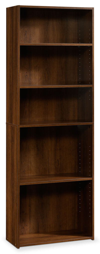 Boston 5-Shelf Bookcase – Brook Cherry - Contemporary style Bookcase in Dark Brown Wood