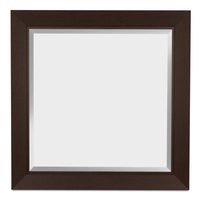 Yorkdale Mirror - Contemporary style Mirror in Dark Brown Engineered Wood and Laminate Veneers