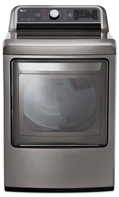 LG 7.3 Cu. Ft. TurboSteam™ Electric Dryer with EasyLoad - DLEX7600VE|Sécheuse électrique LG de 7,3 pi³ TurboSteamMC avec technologie EasyLoadMC - DLEX7600VE|DLEX760V