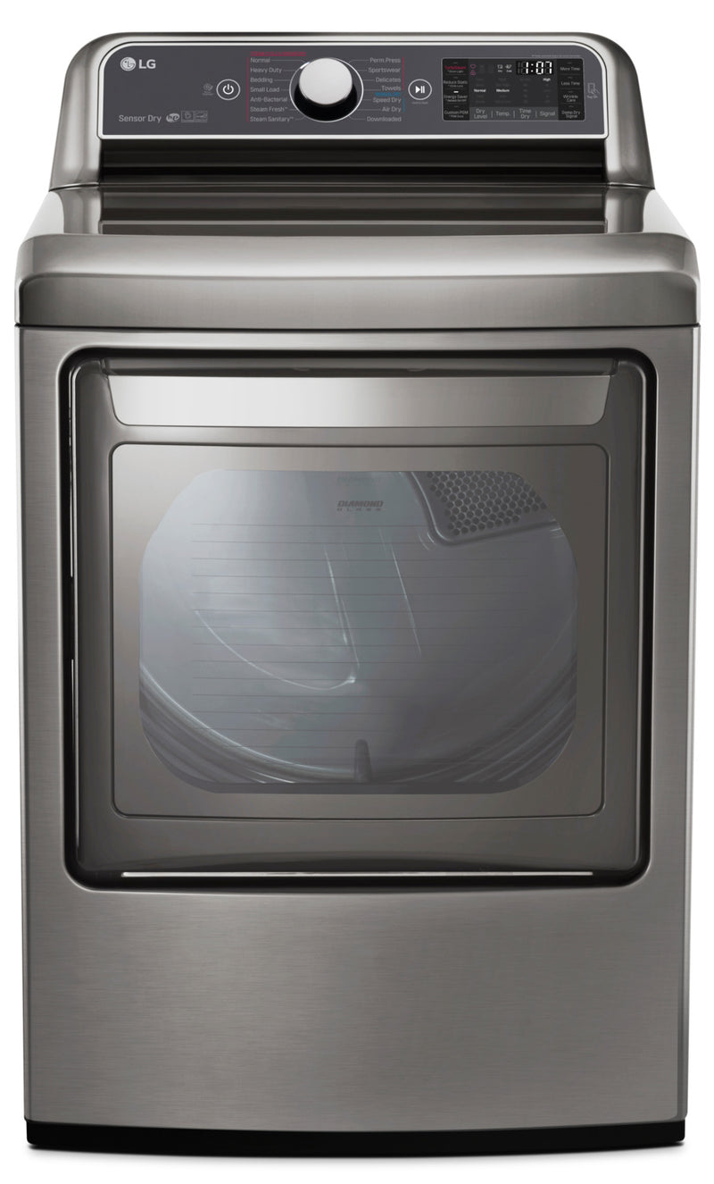 LG 7.3 Cu. Ft. TurboSteam™ Electric Dryer with EasyLoad - DLEX7600VE|Sécheuse électrique LG de 7,3 pi³ TurboSteamMC avec technologie EasyLoadMC - DLEX7600VE
