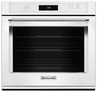 KitchenAid 5.0 Cu. Ft. Single Wall Oven with Even-Heat™ True Convection - White|Four mural simple KitchenAid de 5,0 pi³ à convection véritable Even-Heat(MC) - noir