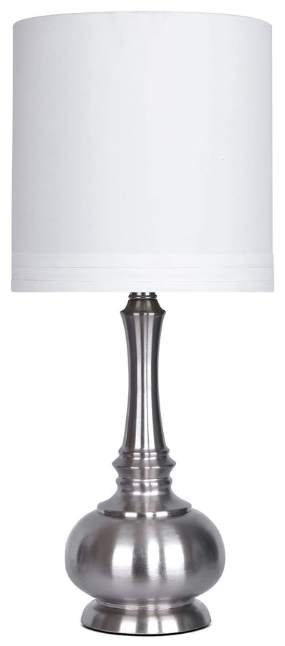 Brushed Nickel Table Lamp|Lampe de table en nickel brossé|ST9044LP