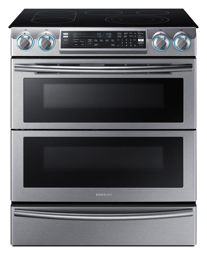 Samsung 5.8 Cu. Ft. Slide-In Electric Flex Duo™ Range – NE58K9850WS|Cuisinière électrique encastrée Samsung de 5,8 pi³ avec four Flex DuoMC – NE58K9850WS