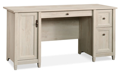 Edge Water Computer Desk – Chalked Chestnut - Contemporary style Desk in White Wood
