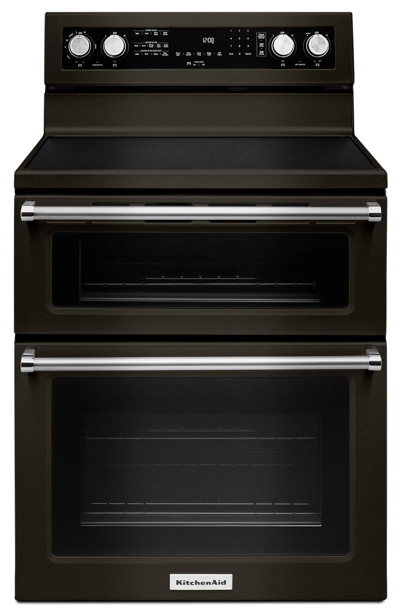 "KitchenAid 30"" Electric Double Oven Convection Range - YKFED500EBS