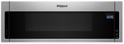 Whirlpool 1.1 Cu. Ft. Low-Profile Microwave Hood Combination – YWML75011HZ - Over-the-Range Microwave in Stainless Look