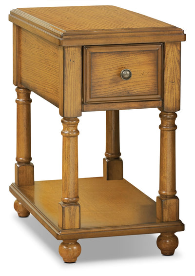 Sydney Accent Table - Burnished Oak - Traditional style End Table in Burnished Oak Stain Wood