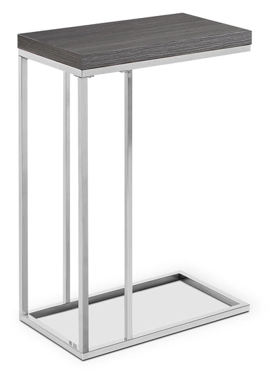 Arroh Accent Table - Modern style End Table in Grey Metal