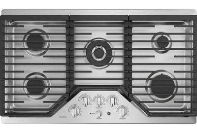 "GE Profile™ Series 36"" Built-In Gas Cooktop – PGP9036SLSS - Gas Cooktop in Stainless Steel"