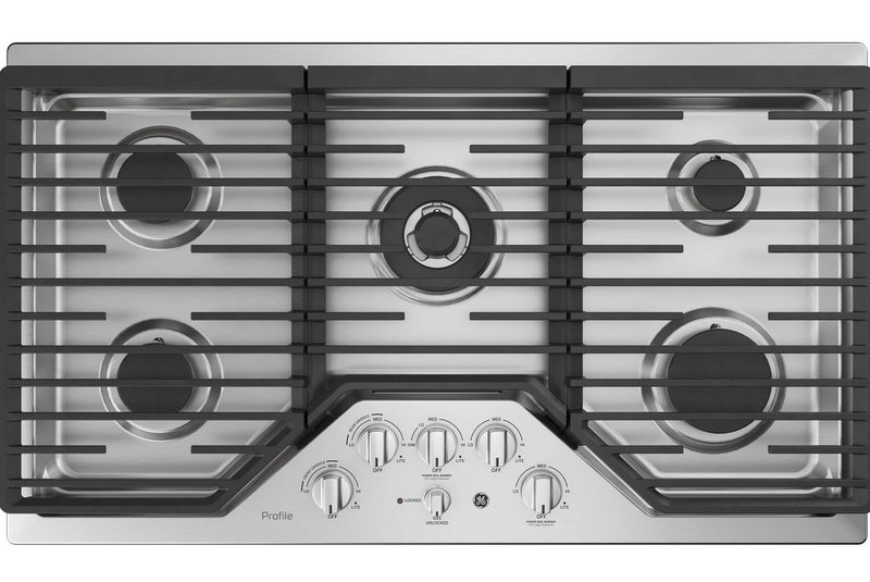 "GE Profile™ Series 36"" Built-In Gas Cooktop – PGP9036SLSS