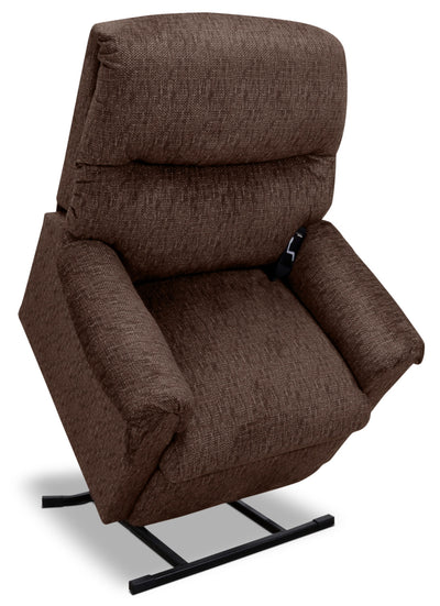 481 Textured Chenille 3-Position Power Lift Chair – Sepia - Contemporary style Chair in Brown