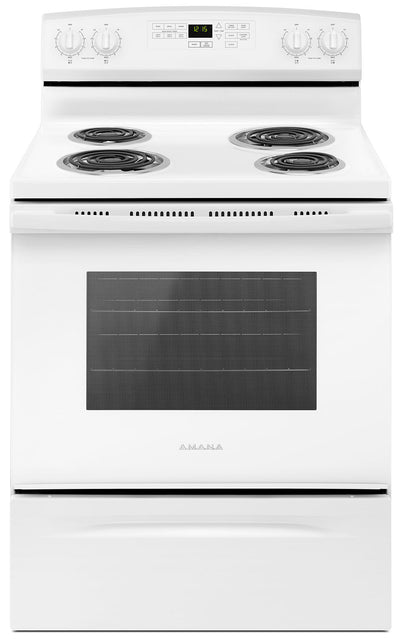 Amana 4.8 Cu. Ft. Freestanding Electric Range – YACR4503SFW - Electric Range in White