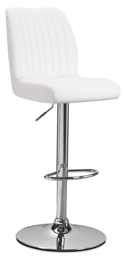 Monarch Adjustable Bar Stool – White|Tabouret réglable Monarch - blanc|I2370WBS
