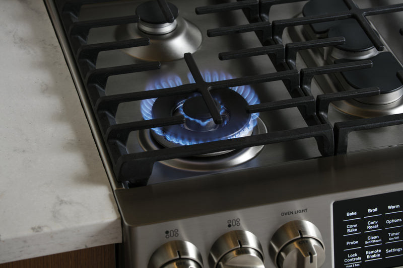GE 5.6 Cu. Ft. Slide-In Gas Convection Range – PCGS930SELSS