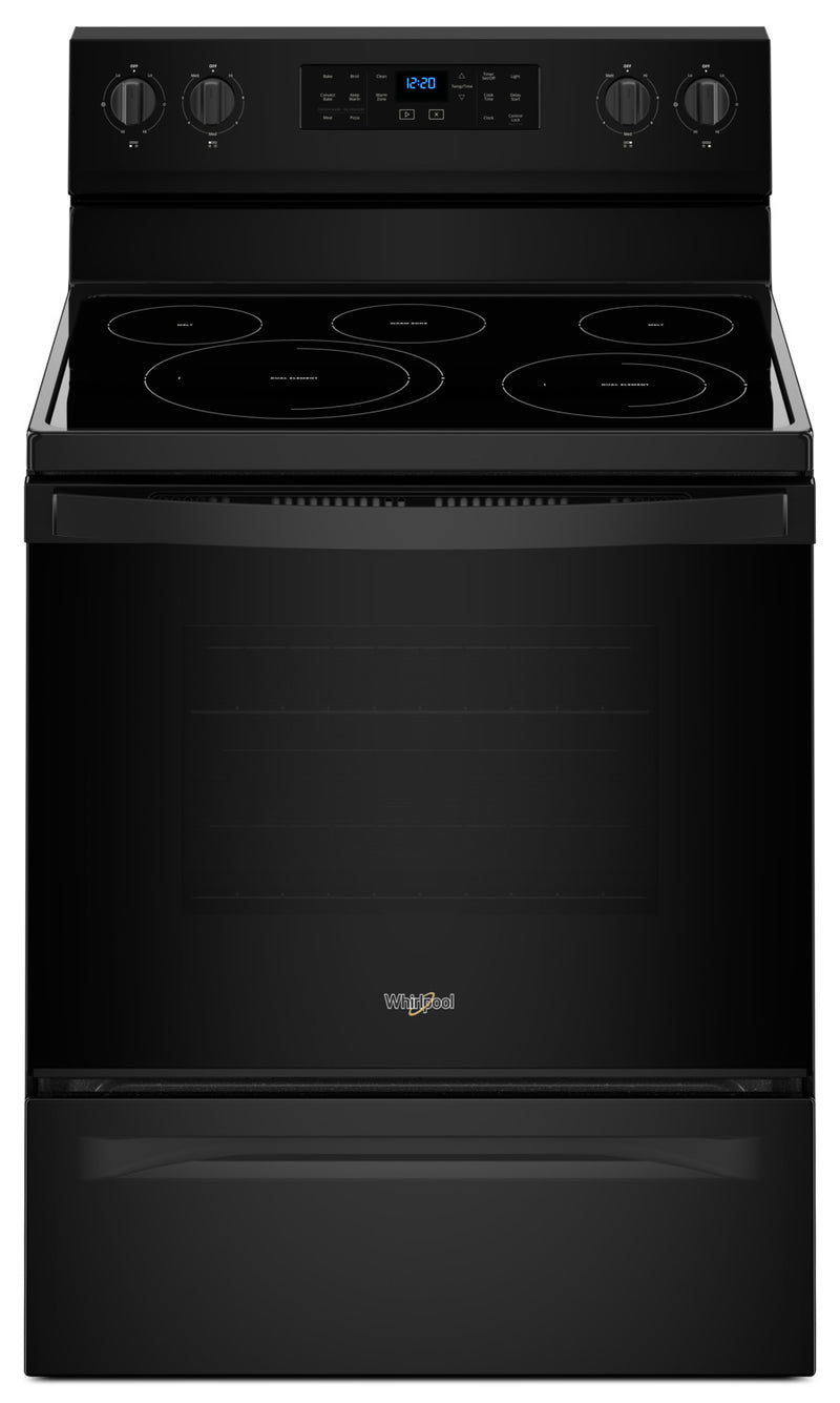Whirlpool 5.3 Cu. Ft. Freestanding Electric Range with Fan Convection Cooking|Cuisinière électrique non encastrée, cuisson à convection par ventilateur 5,3 pi3